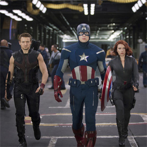 The Avengers brings all of Marvel's best super heroes, including Hawkeye, Captain America and Black Widow, to defeat Thor's villan, Loki.<br />Photo Credit: Marvel Studios<br> Grade: A
