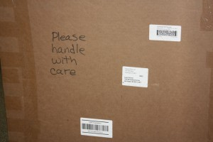 The senior gift remains boxed up before its reveal at the end of May.<br>Photo Credit: Southwest Shadow Staff