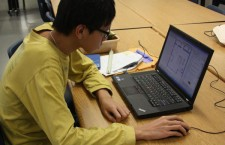 Senior William Zhang works on his Interior Design capstone that is due in May.Photo Credit: Bree Eure