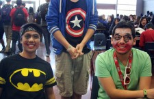 Seniors Jamie Fajardo and John Morales had their makeup done, during a lunchtime game during the Battle of the Sexes. Some seniors participate in these spirit days, They took the initiative to participate in an event that brings more school spirit, unlike those who decided to watch in the background.Photo Credit: Michelle Manuel