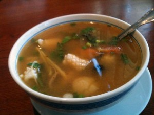 "One of Archi's signature soups, ""Tom Yum Soup"" is a foodie pleasure. <br />Photo Credit: RJ Reyes"