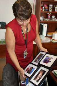Newly appointed Assistant Principal to Arbor View High Shcool, Ms. Lynn McCann packs up the last of her possessions from her SWCTA office.<br />Photo Credit: Jordan Sutton