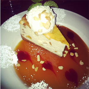 One of Yard Houses specialty desserts is the Macademia Cheesecake.<br />Photo Credit: RJ Reyes