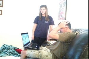 Parents worry when they see low grades and share their concerns with their children.<br />Photo Credit: Peyton Jones
