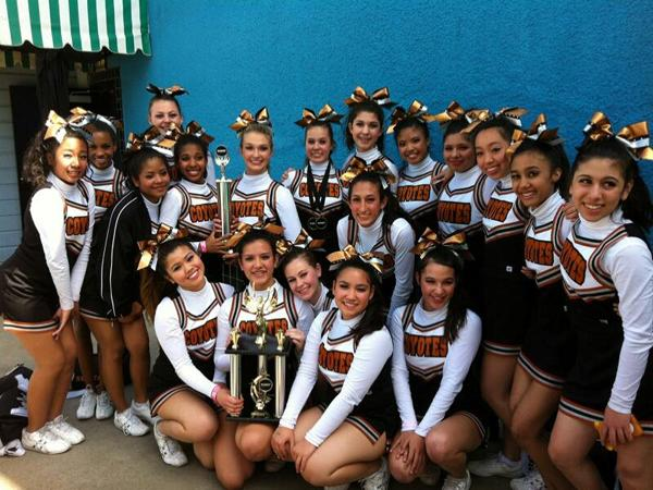 SWCTA's cheerleaders went to Knott's Berry Farm to compete against eight other teams. They won first place in their division.<br>Photo Credit: Ms. Cindi Chang