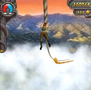 Playing Temple Run 2 is a great way to pass the time and with the all new features such as cliffs, zip-lines and mines is always an opportunity to have fun.<br>Rating: A+<br>Courtesy of Imangi Studios