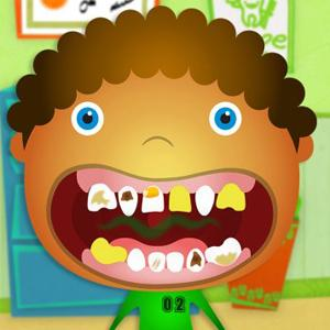 In Tiny Dentist, you can to take the role of a dental assistant, and partake in the cleaning and fixing childrens' teeth. <br />Rating: B<br />Courtesy of Fantastoonic