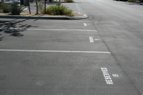 Even after promoting it on the morning announcements during the first week of September, reserved parking spots still remain unsold. <br /> Photo Credit: Tamara Navarro