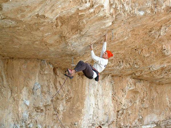 Freshman Biology teacher  Mr. Dennis Goode dangles off the Potos mountain one of his many rock climbing adventures.  Photo Courtesy: Dennis Goode