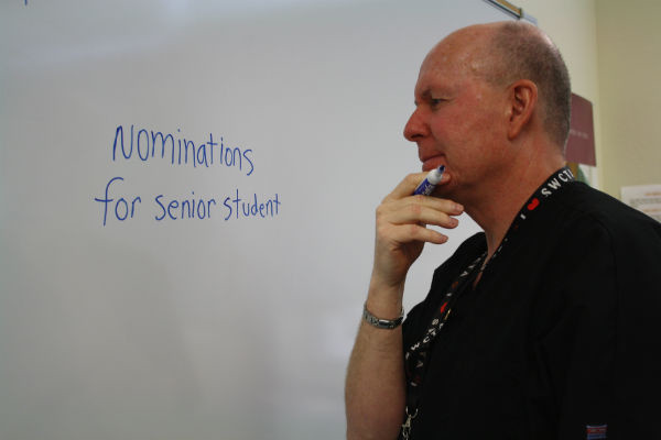 """Senior awards night this year is being held on May 27 in the Coyote Ballroom. Last year 90% of the senior class attended this event. """"I'm excited for awards night! I hope I win some awards,"""" senior Vanessa Corona said.  Photo Credit: Bree Eure"""