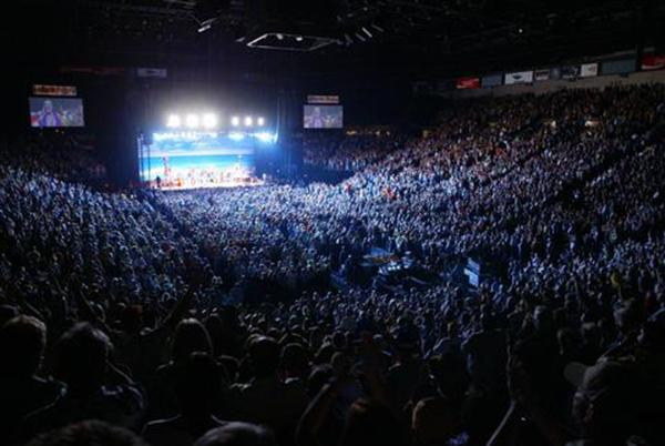 The MGM Grand Garden arena provides entertainment for a variety of age groups ranging from wrestling matches to musical concerts.  Photo Courtesy of MGM Grand