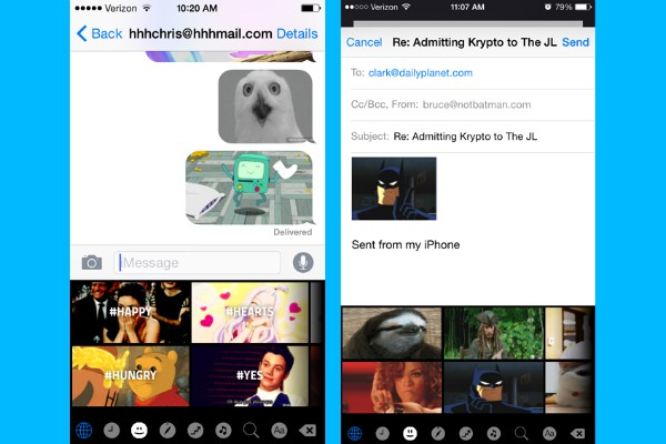 Prior to the Apple iOS8 update, sending GIFs was a hassle, but with the release of 'GIF Keyboard' in light of the recent improvements, it is an issue no more. GIFs are directly built-in to your keyboard, only requiring a mere copy and paste to share those priceless moments. Photo courtesy of Mac Life