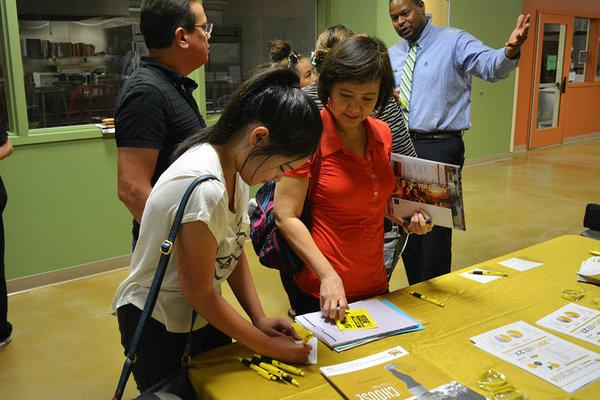 College Night provides a great opportunity for parents and students to look into future education and career options together. Photo Credit: Alexis Drevetzki