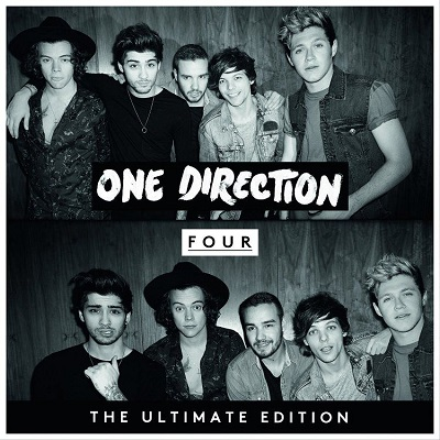 """Parting from their signature pop sound, One Direction explores their edgier side with """"Four."""" Similar Artists: Five Seconds of Summer, The Wanted, The Vamps Grade: A Photo Courtesy of One Direction Store"""