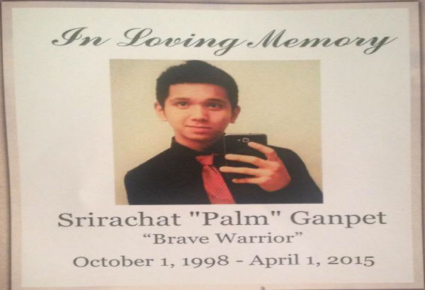 "A miracle minute was held in memory of Srirachat ""Palm"" Ganpet. Ganpet had passed away on April 1."