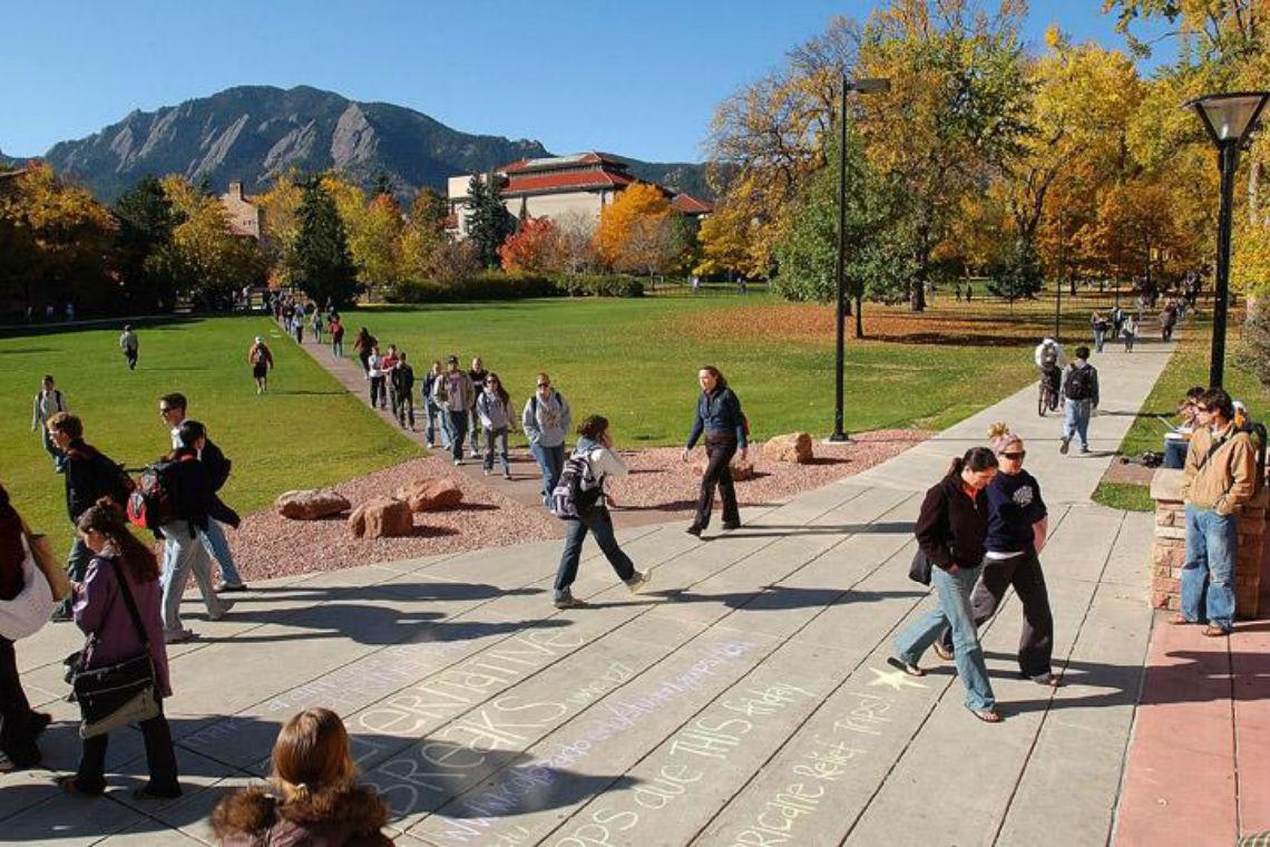The University of Colorado is located in the small, scenic college town of Boulder, Colorado. Photo Credit: University of Colorado