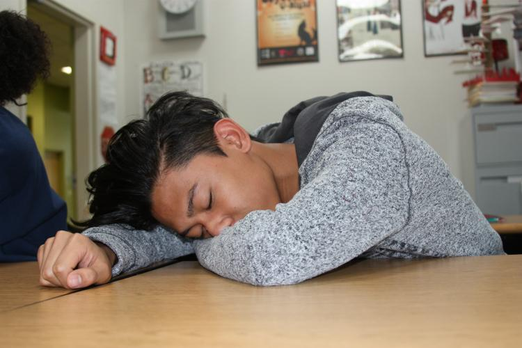 """Staying up late is a common thing between students. For sophomore Delmar Bautista this is something he struggles with every night. """"My phone keeps me up at night because of all the interesting things that go on,"""" Bautista said."""