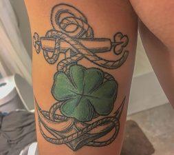 Senior Jules Dizon's bicep tattoo
