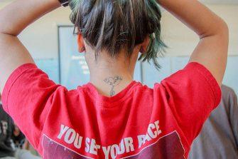 Junior Melia Bowles' tattoo